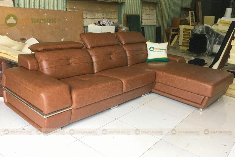 sofa da góc nhỏ