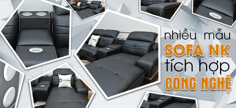 Sofa da nhập khẩu tích hợp công nghệ 2017