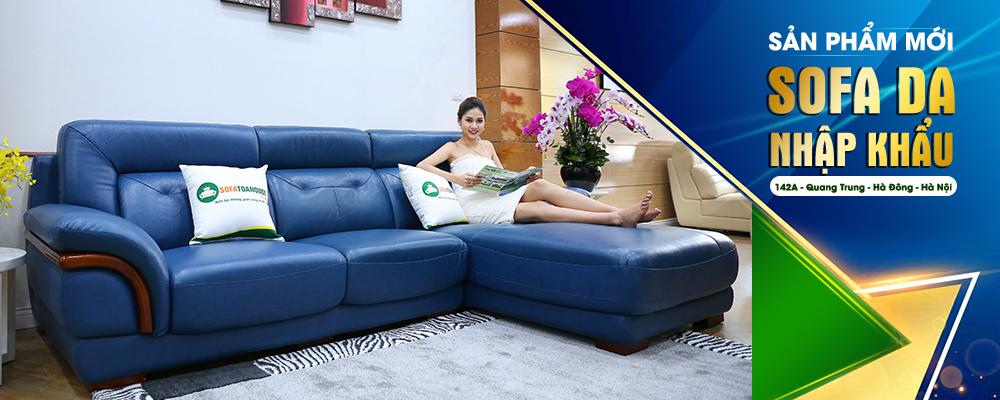 Bộ ghế sofa da cao cấp nhập khẩu mẫu mới nhất 2017