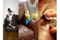 Ghế sofa da có dễ vệ sinh làm sạch khi bị bám bẩn không?