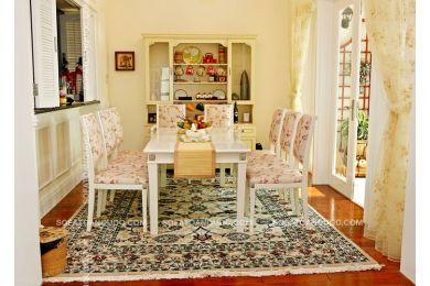 Bàn ghế ăn 8 ghế bọc vải mã 01