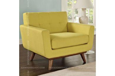 Mẫu ghế sofa đơn nhỏ màu vàng mã 01