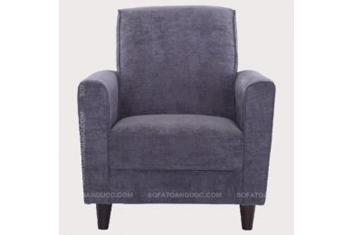 Mẫu Ghế Sofa Đơn Bọc Vải Nỉ Màu Tím Mã 03