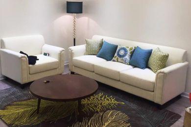 Mẫu sofa chung cư hiện đại bọc vải cho phòng khách mã 03