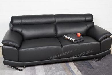Ghế sofa văng da 2 chỗ chân inox mã 57