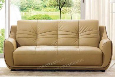 Mẫu ghế sofa văng da thật mã 65