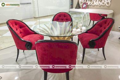 Bàn ghế ăn kính mã 30