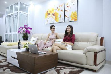 Sofa da nhập khẩu mã QV-3212P