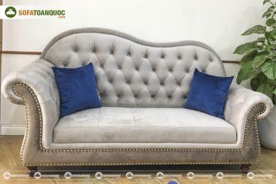 Mẫu ghế sofa văng vải nỉ phong cách hoàng gia quý tộc mã 150