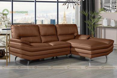 Ghế sofa da chân inox mã 201