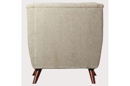Mẫu ghế sofa đơn cổ điển bọc nỉ đẹp mã 04-1