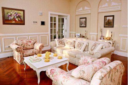Mẫu bộ ghế sofa vải hoa lãng mạn mã 60