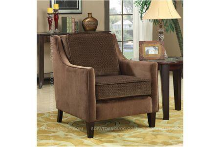 Mẫu ghế sofa đơn màu cafe mã 23