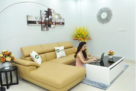 ghế sofa da  mã sd-02p-05