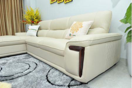 Bộ ghế sofa giả da cao cấp nhập khẩu mã QVF1623P-10