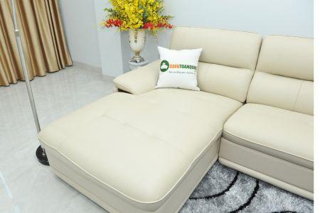 Bộ ghế sofa giả da cao cấp nhập khẩu mã QVF1623P-12