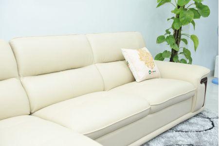Bộ ghế sofa giả da cao cấp nhập khẩu mã QVF1623P-14