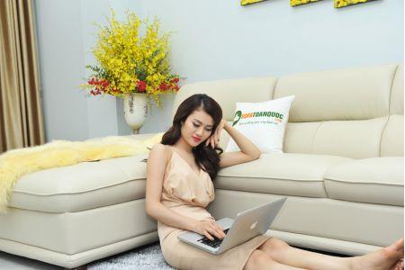 Bộ ghế sofa giả da cao cấp nhập khẩu mã QVF1623P-6