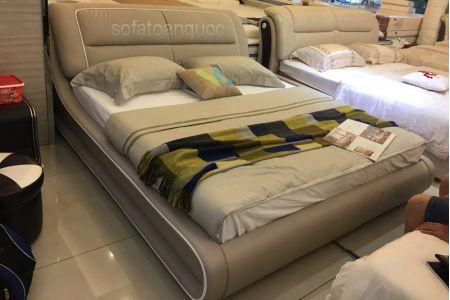 Giường ngủ bọc da mã 56-1