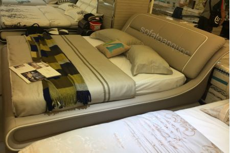 Giường ngủ bọc da mã 56-2