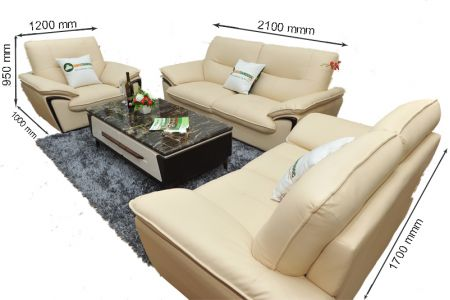 Kích thước sofa da mã sdn02