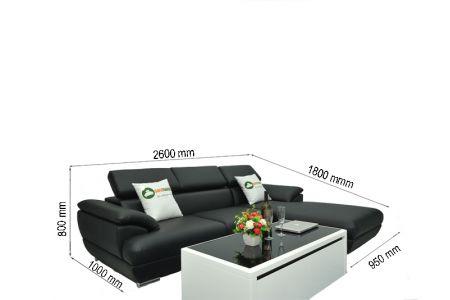 Kích thước Bộ bàn ghế sofa cho phòng khách nhỏ mã TN01T