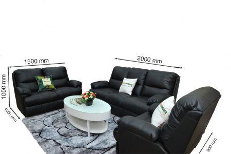 Kích thước sofa da mã sdn05