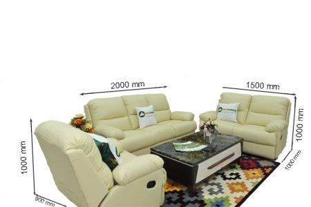 Bộ bàn ghế sofa da bò tót nhập khẩu mã tq06-14