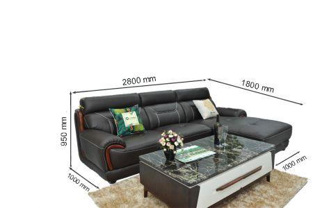 Kích thước sofa da mã sdn11t