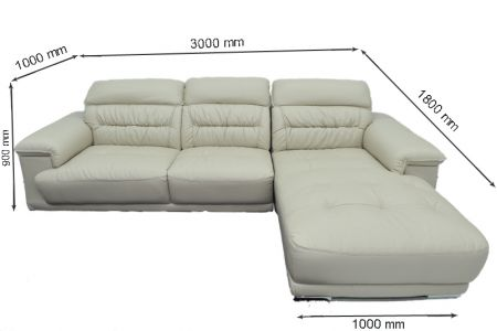 Kích thước sofa da mã sdn12t