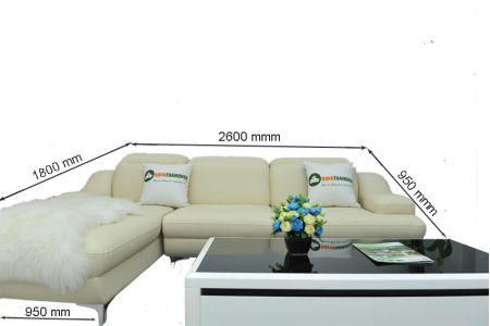 Kích thước sofa da mã sd03p