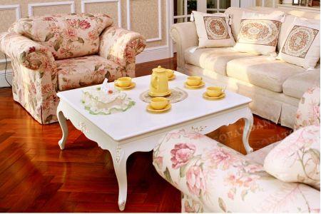 Mẫu bộ ghế sofa vải hoa lãng mạn mã 60-2