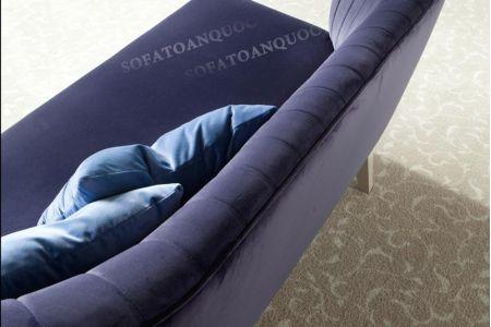 Mẫu ghế sofa văng đơn dài không tay vịn mã 18-2