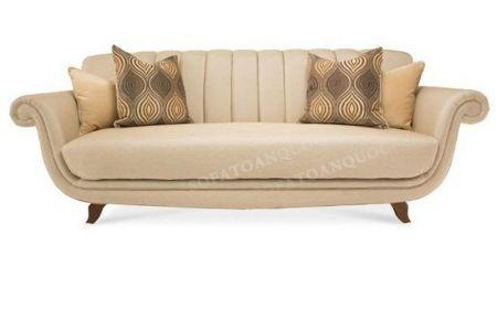 Ghế sofa văng bọc nỉ nhỏ đẹp kiểu dáng cổ điển sang trọng mã 31-1