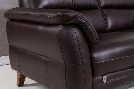 Mẫu sofa văng đơn màu mận nâu bọc da đẹp mã 86-2