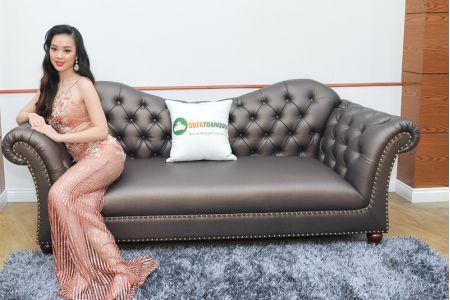 Ghế sofa văng giả da kiểu tân cổ điển mã 87-2