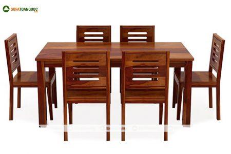 Bộ bàn ghế phòng ăn gỗ sồi nga mã 32
