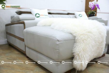 Bộ ghế sofa da góc phải mã sdn24p-11