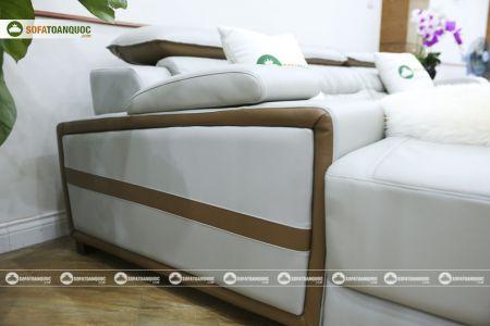 Bộ ghế sofa da góc phải mã sdn24p-12