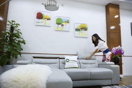 Bộ ghế sofa da góc phải mã sdn24p-3
