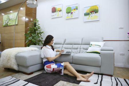Bộ bàn ghế sofa da cao cấp nhập khẩu mã sdn24t