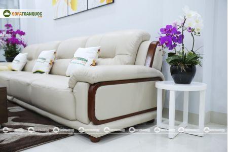 Bộ bàn ghế sofa da đẹp cao cấp nhập khẩu mã sdn-20p-11