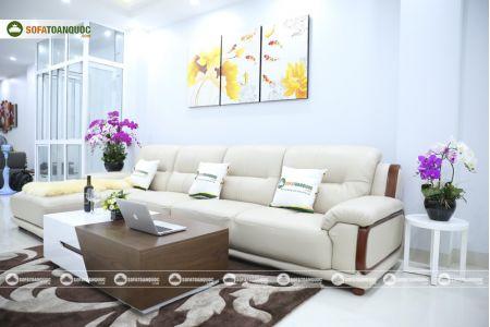 Bộ bàn ghế sofa da đẹp cao cấp nhập khẩu mã sdn-20p-6