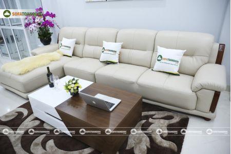 Bộ bàn ghế sofa da đẹp cao cấp nhập khẩu mã sdn-20p-8