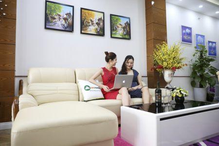 Bộ bàn ghế sofa da góc đẹp mã sdn27p-4