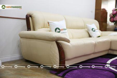 Mẫu ghế sofa da góc phải cao cấp nhập khẩu mã sdn26p-10