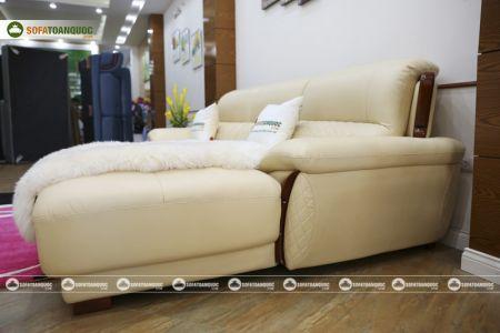 Mẫu ghế sofa da góc phải cao cấp nhập khẩu mã sdn26p-11