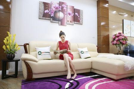 Mẫu ghế sofa da góc phải cao cấp nhập khẩu mã sdn26p-3
