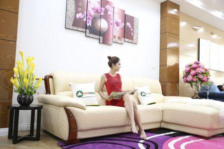 Mẫu ghế sofa da góc phải cao cấp nhập khẩu mã sdn26p-4