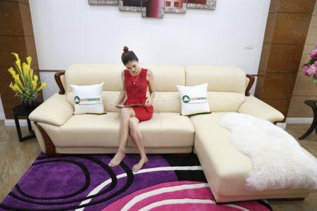 Mẫu ghế sofa da góc phải cao cấp nhập khẩu mã sdn26p-6